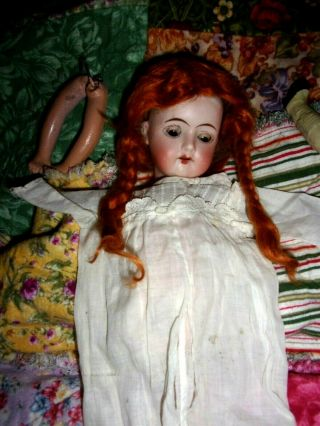 Bisque Head Goebel Doll Head.  Including A Body To Put Together W/wig/dress