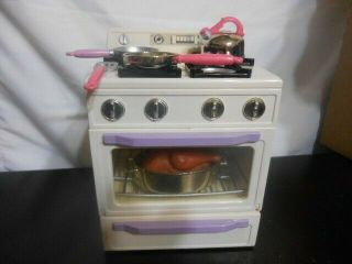 Tyco Kitchen Littles Deluxe Stove 1995 Vintage Play Barbie Size W/accessories