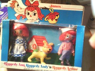 Raggedy Ann & Andy,  Vintage Collectable Characters,  Kids Dolls Toy
