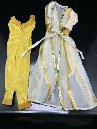 Vtg 1979 Barbie Designer Originals Golden Glamour Outfit 1412 Superstar Era