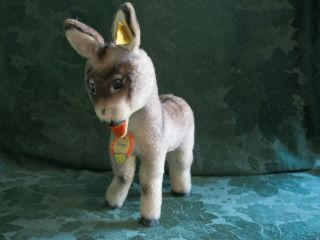 Vintage Steiff Grissy The Donkey With Button And Tags