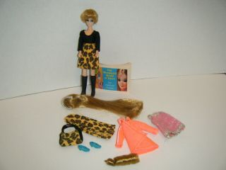 Vintage Topper Dawn Doll Head To Toe Longlocks & Wiglet Extra Clothes Booklet