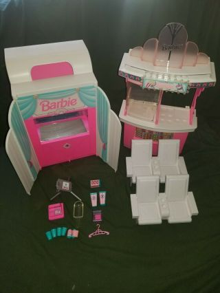 Barbie Movie Theater With Magical Screen Plus Snack Bar Playset Mattel 1995
