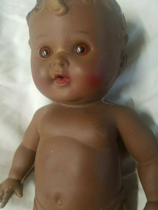 Vintage Tod - L - Tot Sun Rubber Black African American Doll Wet Squeak