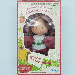 Vintage 1982 Strawberry Shortcake Doll With Custard And Accessories.