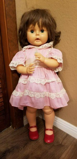 1964 Horsman Blue Eyes (thirsty Walker) Doll Tb - 26 Vintage Doll