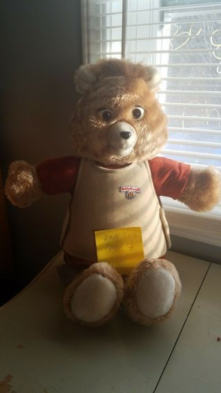 Vintage 1985 2nd Gen Teddy Ruxpin Bear Animated Talking Toy