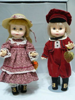 "Two 16 "" 1978 Effanbee Dolls - Little Suzie Sunshine & Holiday Red Boy Doll"