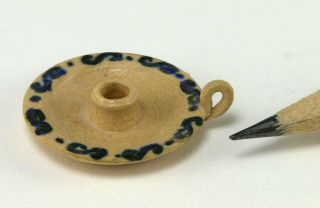 Miniature Dollhouse Candle Holder,  Butt Hinge Pottery,  Artisan,  Estate,  1:12