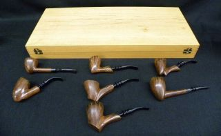 Extremely Rare Ben Wade Seven Day Tobacco Pipe Set Denmark 1970s 2