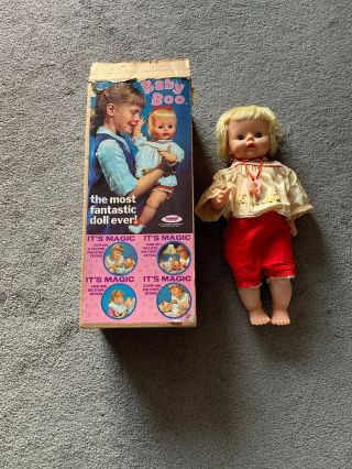 "Vintage 1965 Baby - Boo 21"" Doll W/ Box By Topper Toys - De Luxe Reading Corp 1813"