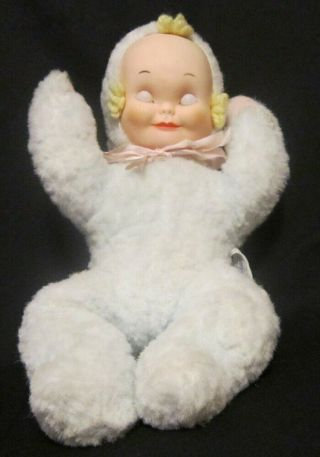 Sleepy Head Musical Vintage Knickerbocker Doll Santa Claus Is Coming To Town