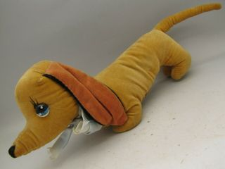 Vintage Merrythought Dachshund Sausage Dog Velvet Plush Toy Teddy Merry Thought