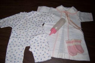 "Sweet Minty - Eff & B Factory Robe,  Pjs,  Booties - Bottle - For 15 "" Dydee Baby"