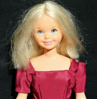 "Vintage Supersize 1971 Barbie Doll Blond Hair Blue Eyes 18 "" Not"