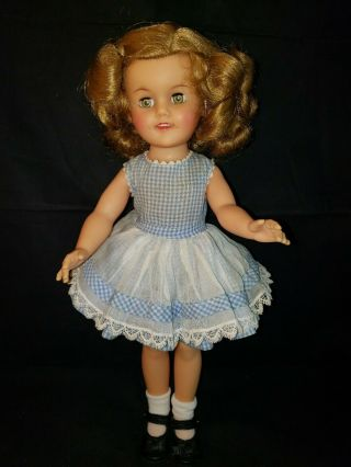 "Ideal Shirley Temple Doll 15 "" St - 15n Vinyl.  Junior Prom? No Tags"