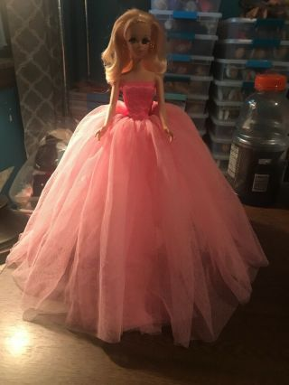 Pink Ball Gown For Silkstone,  Vintage Barbie,  Francie,  Stacey & Pj No Doll