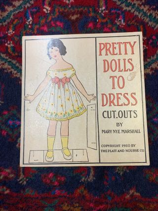 Un - Cut Paper Doll Book Mary Nye Marshall Pretty Dolls To Dress Cut Outs