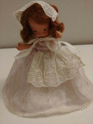 "Vintage 5 "" Nancy Ann Storybook Doll Bisque Pudgy Jointed Look"
