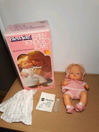Vintage Mattel 1970s Bless You Baby Tender Love Sneezing Doll