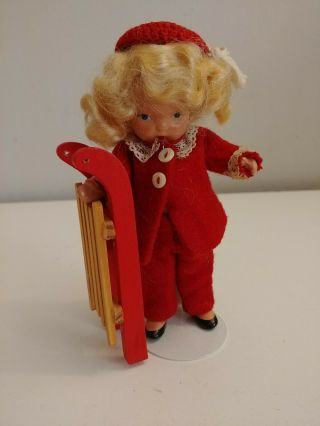 "Vintage 5 "" Nancy Ann Storybook Doll Bisque Pudgy Winter? Look"