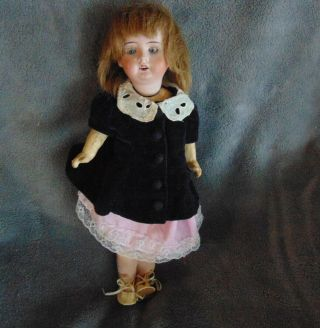 Vintage German Theodor Recknagel Doll 12""