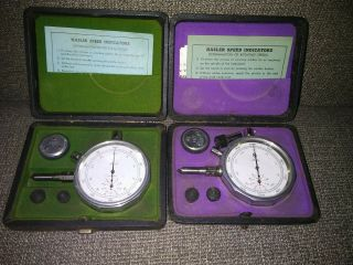 2 Antique Hasler Speed Indicators Shape
