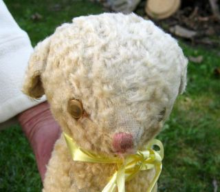 Antique / Vintage Stuffed Lamb Sheep Toy Music Box / Mary Had A Little Lamb