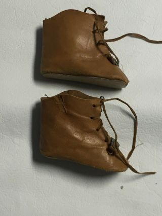 Tan Leather Antique Boots For Your French Or German Doll Size 5