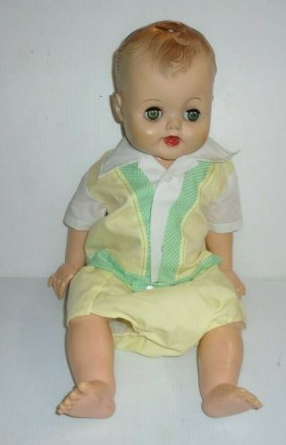 Vintage Plastic Toy Girl Doll Playpal Toddler