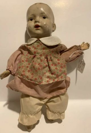 Antique Composition Baby Doll 1930's