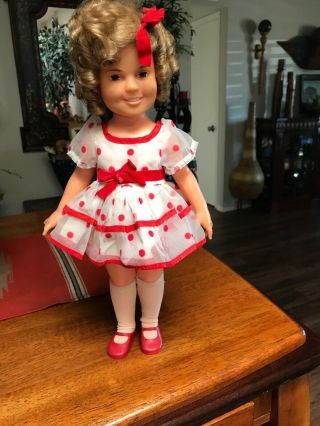 "Vintage 1972 Ideal Shirley Temple Doll Stand Up And Cheer 16 "" Sweet Complete"