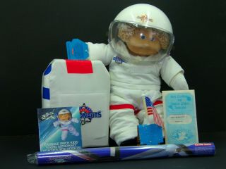 Vintage Cabbage Patch Kid Boy Young Astronaut Doll 1986 Coleco Blond Blue Nasa