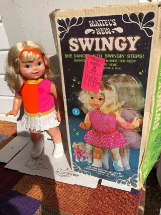 Vintage 1964 Mattel Walking Dancing Swingy Doll -