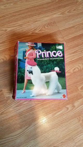Mattel Vintage Barbie Prince And Beauty Poodle Afghan Dog 1984 And 1979