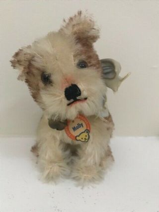 Steiff Molly Antique Seated Swivel Head Dog Small