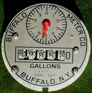 Antique Buffalo Meter Co.  (ny) Gallons - Counted Gears - Operated Water Meter Gauge