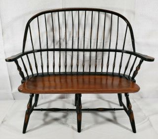 Wooden Windsor Bench Vintage Salesman Sample