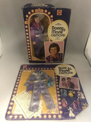 Vintage 1976 Mattel Donny & Marie Osmond Doll And Outfit In Orig Boxes