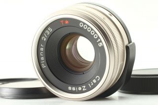 Rare【mint S/n 0000015】 Contax Carl Zeiss Planar 35mm F2 T For G1 G2 From Japan
