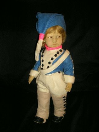 Rare Early Lenci Drummer Boy Model 300 17 Inches Tall Re - Dressed