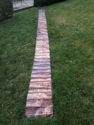 Antique Copper Sheet 23 Ft.  5 In.  Long 17 In.  Wide 1/4 Mm Thick