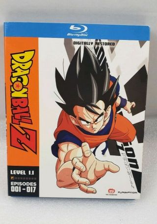 Dragon Ball Z Level 1.  1 Blu Ray Complete Slipcover Inserts Oop Rare