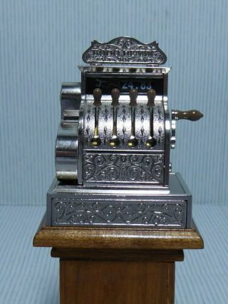 Rare Dolls House 1:12 Scale Bodo Hennig Cash Register Till Mechanical With Coin
