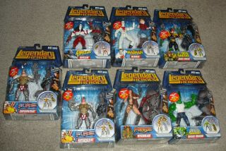 Marvel Legends Legendary Comic Book Heroes Pitt Baf Complete Set Of 7 Rare