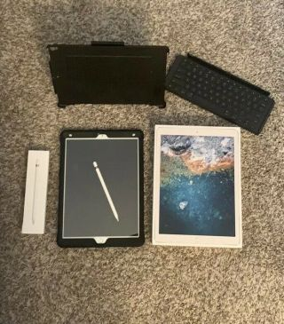"Apple Ipad Pro 12.  9"" Inch (512gb) With Pencil,  Puterbox & Keyboard.  Rarely."
