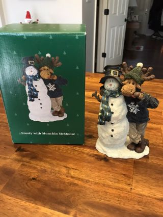 Boyds Moose Troop Frosty With Munchin Mcmoose - Rare Piece.  1st Edition