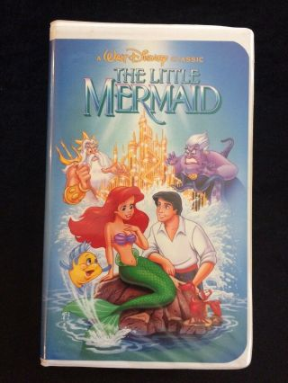 The Little Mermaid Disney Black Diamond Vhs Tape Rare Banned Cover