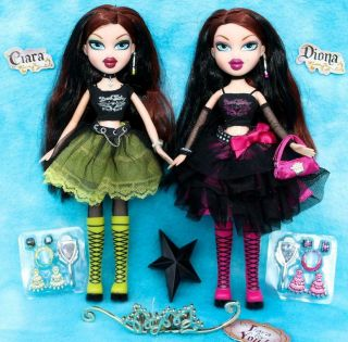 Bratz Wicked Evil Twins Sisters Tlc Dolls Ciara & Diona W/accessories Rare
