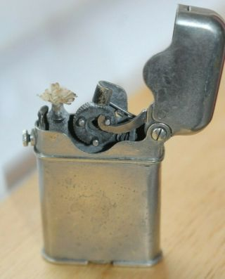 Rare Vintage Thorens Alpacca Semi Automatic Lighter With 1920 Patent